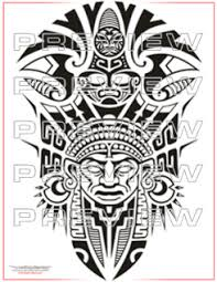 tribal aztec warrior tattoo design photos pictures and sketches