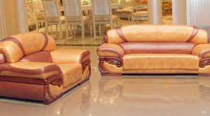 Gold Leather Sofa Sofa Sleek White Marble Floor Italian Sofas Shiny Gold Mirror