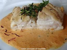 cuisiner la queue de lotte recette de queue de lotte rôtie et sa sauce corail crémée au vermouth