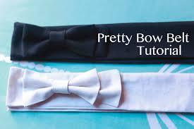 bow belts tutorial pretty bow belt handmade