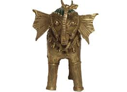 buy dhokra brass metal elephant showpiece online at discount prices