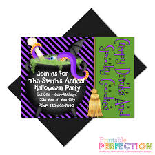 halloween coldren background printable perfection personalized invitations halloween