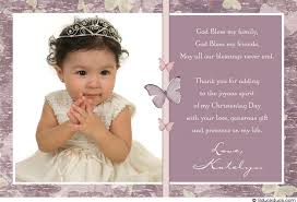 purple butterfly christening thank you card baby photo