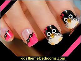 penguin nail art stickers images