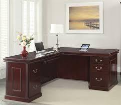 Office Star Computer Desk by Townsend Series Traditional Executive U0027l U0027 Shape Desk 66