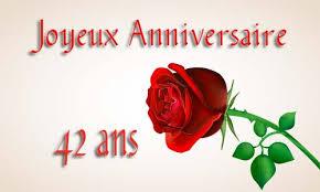 42 ans de mariage carte anniversaire amour 42 ans virtuelle gratuite à imprimer