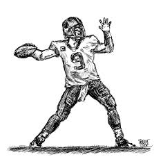 quarterback drawing gallery clip art library