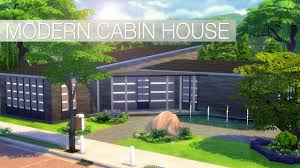 sims 4 speed build modern cabin house youtube
