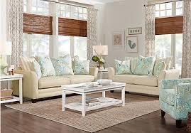 Rooms To Go Living Room Set Coastal Grove Khaki 7 Pc Living Room Living Room Sets Brown