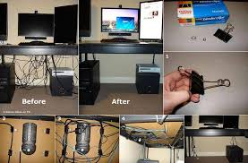 How To Organize Wires On Desk How To Hide Desk Cords And Cables Diy Cozy Home