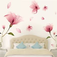 compare prices on pink bedroom decor online shopping buy low removable pink petal flower wall sticker art decoration hotel home room living room bedroom decor diy