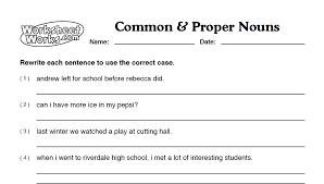 proper nouns worksheet 2nd grade worksheets