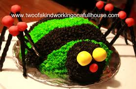 my halloween spider cake two of a kind working on a full house