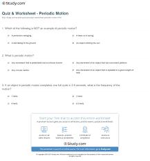 quiz u0026 worksheet periodic motion study com