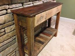 Wood Entry Table Reclaimed Wood Entry Table