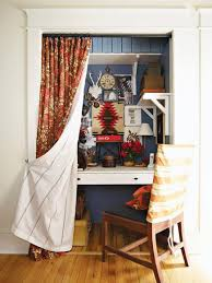 Closet Curtains Instead Of Doors 20 Ways To Create A Home Office Space Midwest Living