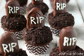 Halloween Cake Balls Recipe by Tombstone Cupcakes Your Cup Of Cake