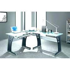 Black And Chrome Computer Desk Modern Computer Desk Glass Office Furniture Top Blue