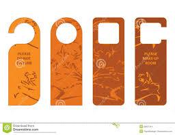 door hangers stock images image 26907214