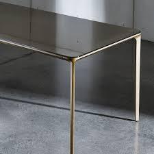 Rectangle Glass Dining Table Slim Rectangular Glass Dining Table Klarity Glass Furniture