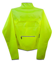 packable cycling rain jacket atd windbreaker jacket visibility yellow women