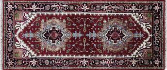 3x6 Rugs Heriz Serapi Collection Red Black Border 3x6 Runner Hand Knotted