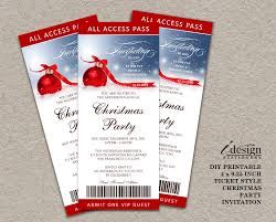 Christmas Party Invitations Pinterest - holiday party ticket invitations printable ticket style