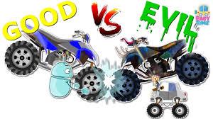 quad car war good vs evil scary street vehicles halloween