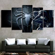 online get cheap spider man classic art aliexpress com alibaba modern canvas wall art pictures frame home decor 5 panel movie character spider man room poster
