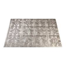 thermoplastic panels kitchen backsplash shop fasade 18 5 in x 24 5 in cross hatch silver thermoplastic