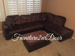 microfiber sectional with ottoman chocolate microfiber sofa sectional with storage ottoman furniture