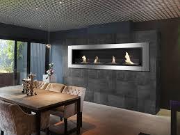 modern built in ethanol fireplaces modern blaze
