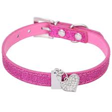 mardi gras dog collar 4 glitter pu leather dog collar for puppy small dog with bling heart