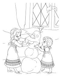 kids under 7 frozen coloring pages