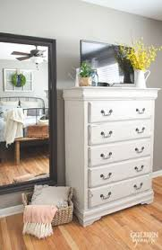 white chalky paint dresser makeover chalky paint country chic