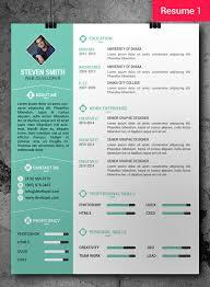 photoshop resume templates download 35 free creative resume cv