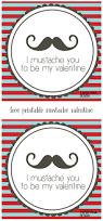 free printable mustache valentines paper trail design