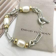 gold silver pearl bracelet images David yurman pearl yellow gold sterling silver link bracelet jpg