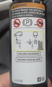 holden colorado colorado 7 trailblazer recalled for jack fix