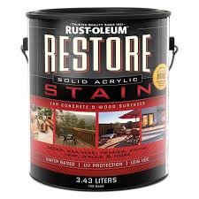 rust oleum restore 3 43 l solid acrylic concrete and wood stain