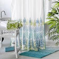 Blue And Green Shower Curtains Blue Green Print Shower Curtain Bath Bed Bath World Market