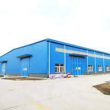 china prefab steel structure factory warehouse with crane prefab