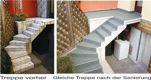 treppen sanierung treppe abdichtung renovierung mit polyester belag m t polyester