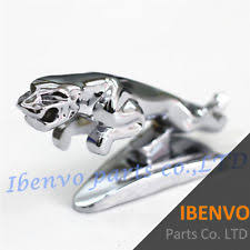 front ornament leaper metal jaguar glower w adhesive stick