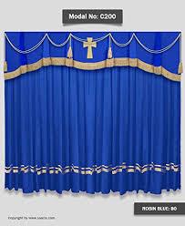 Church Curtains Saaria Church Curtains With Cross On Valance Backdrops