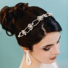 pearl headpiece rhinestone pearl wedding headpiece