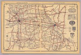 Missouri Road Map Missouri David Rumsey Historical Map Collection
