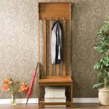 adorable entry hall bench coat rack from teak wood material with