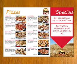 pizza menu templates exol gbabogados co