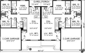 Duplex Floor Plans With 2 Car Garage Duplex Country Style House Plans 2514 Square Foot Home 1 Story